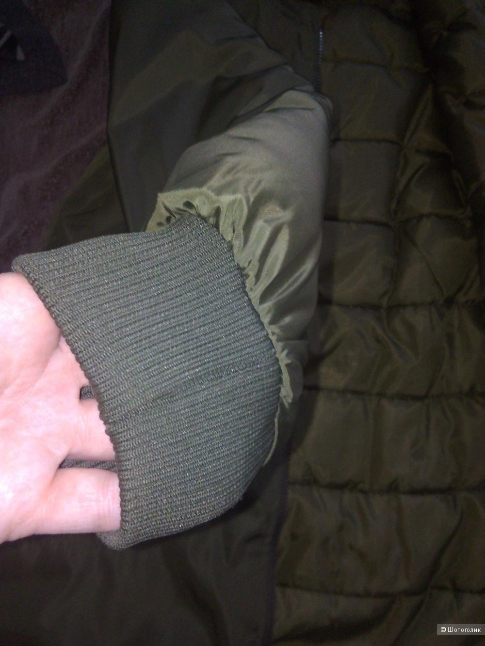Демисезонное пальто бомбер размер 44-46 .