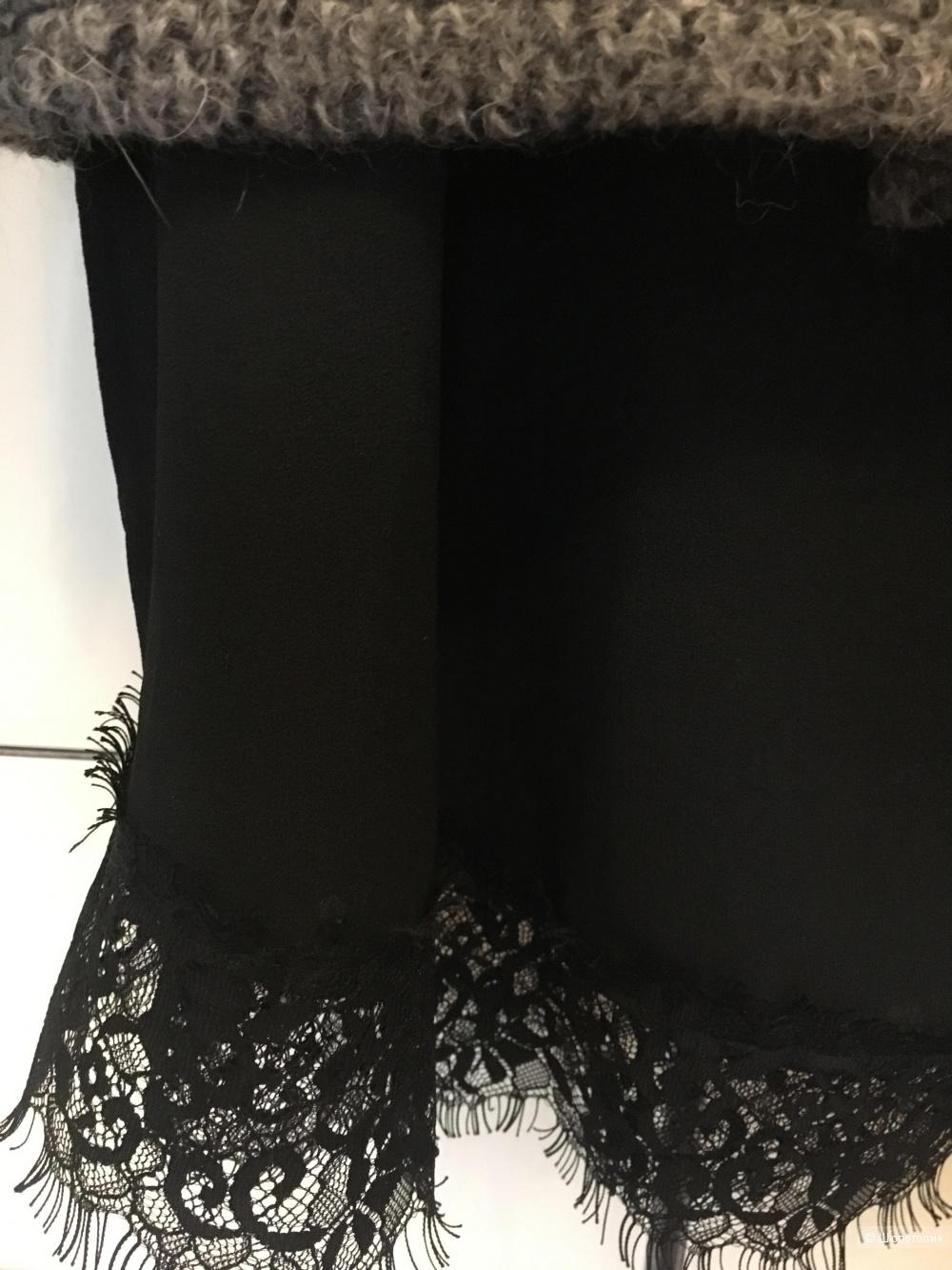 Кружевной топ с шерстяной накидкой, Imperial, S-M