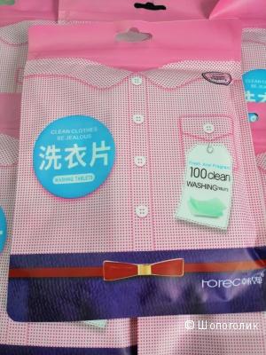 Rorec концентрированные салфетки-пластины для стирки белья