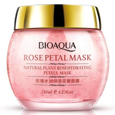BIOAQUA маска для лица с лепестками роз 120 мл