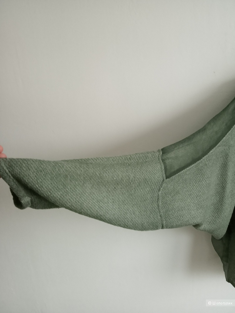 Топ оверсайз шерсть + шелк (без размера, от S до L)