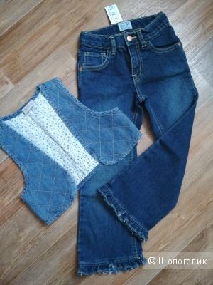 Сет джинсы и жилет размер 110