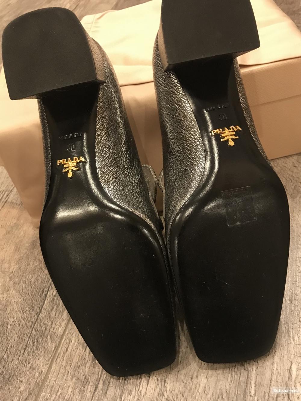 Туфли Prada, маркировка 40