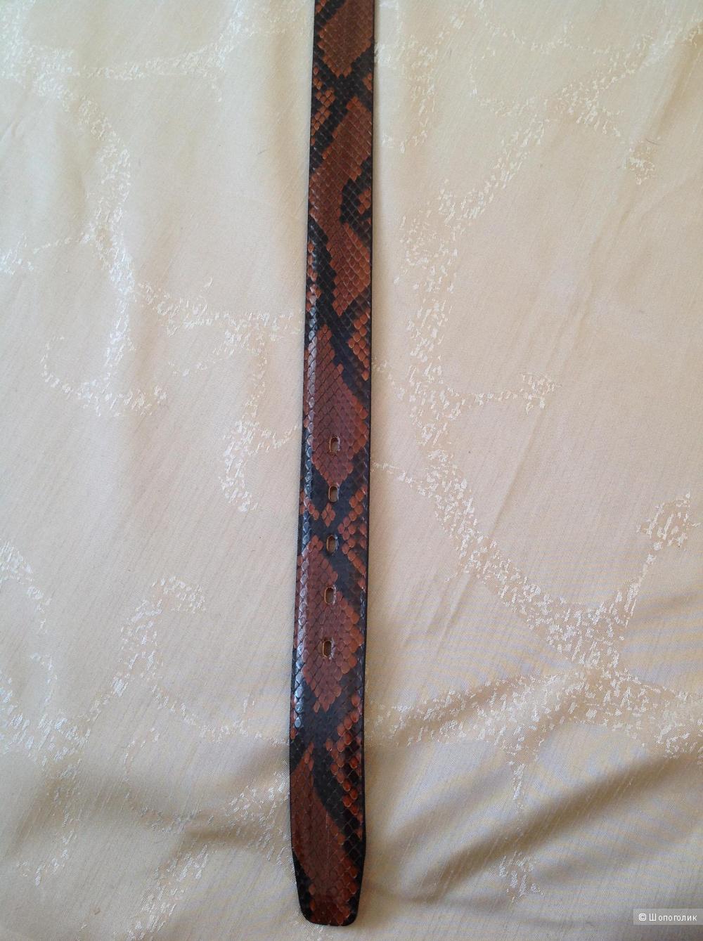 Ремень из кожи питона CARRONE Milano, размер 90