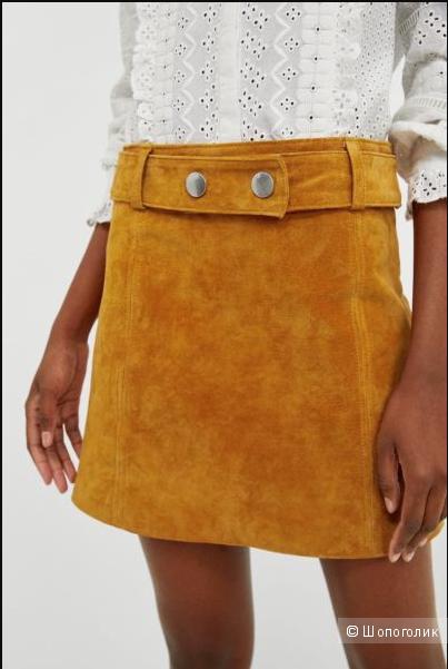 Замшевая юбка ZARA WOMAN размер XS
