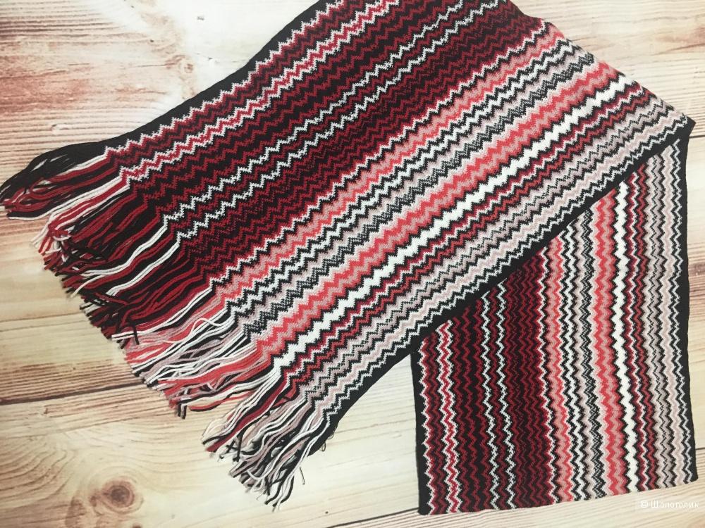 Шарф Missoni zig zag crochet knit fringed