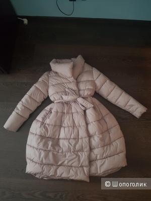 Пальто-пуховик, фирма неизвестна, размер 42-44