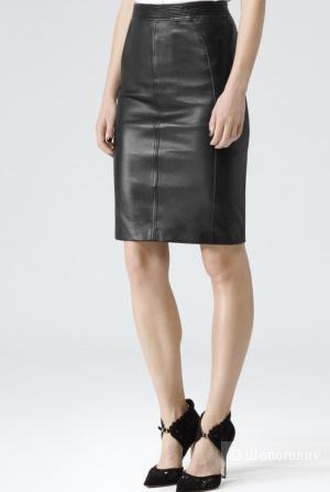Кожаная юбка Reiss, размер М.