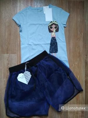 Комплект шорты to be too футболка vertbaudet размер 7