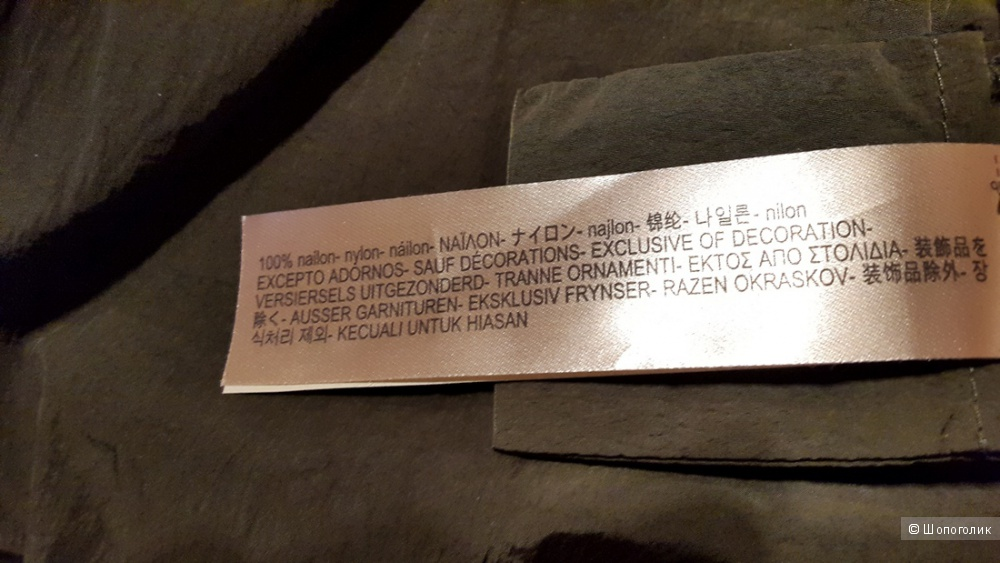 Парка из высокотехнологичной ткани  Massimo Dutti. S