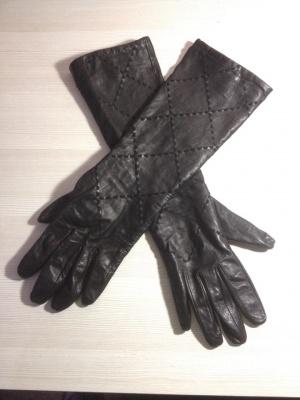 Кожанные женские  перчатки Eleganzza разм. 7