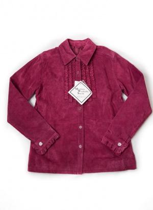 Замшевая куртка рубашка Beth Terrell размер XS S M
