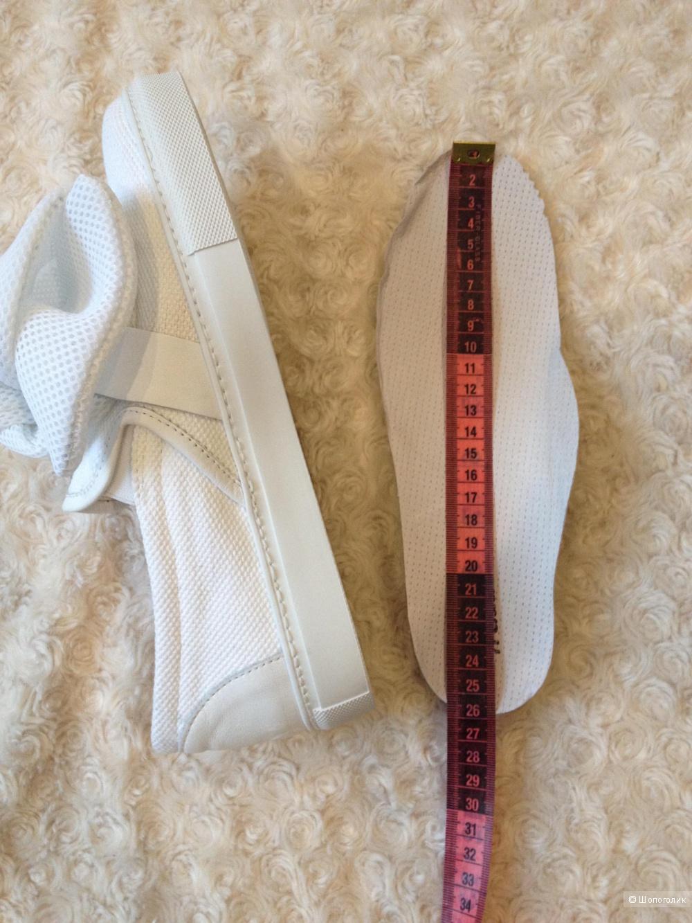 Слипоны кожаные Madame Ines размер 39 EU стелька 26 см