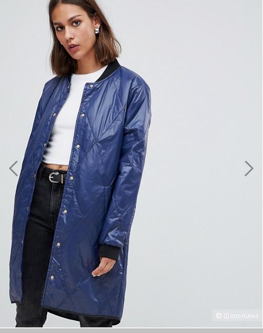 7f4cf86aaea Удлиненная стеганая куртка-бомбер Minimum. Размер  36 (на 42-44).