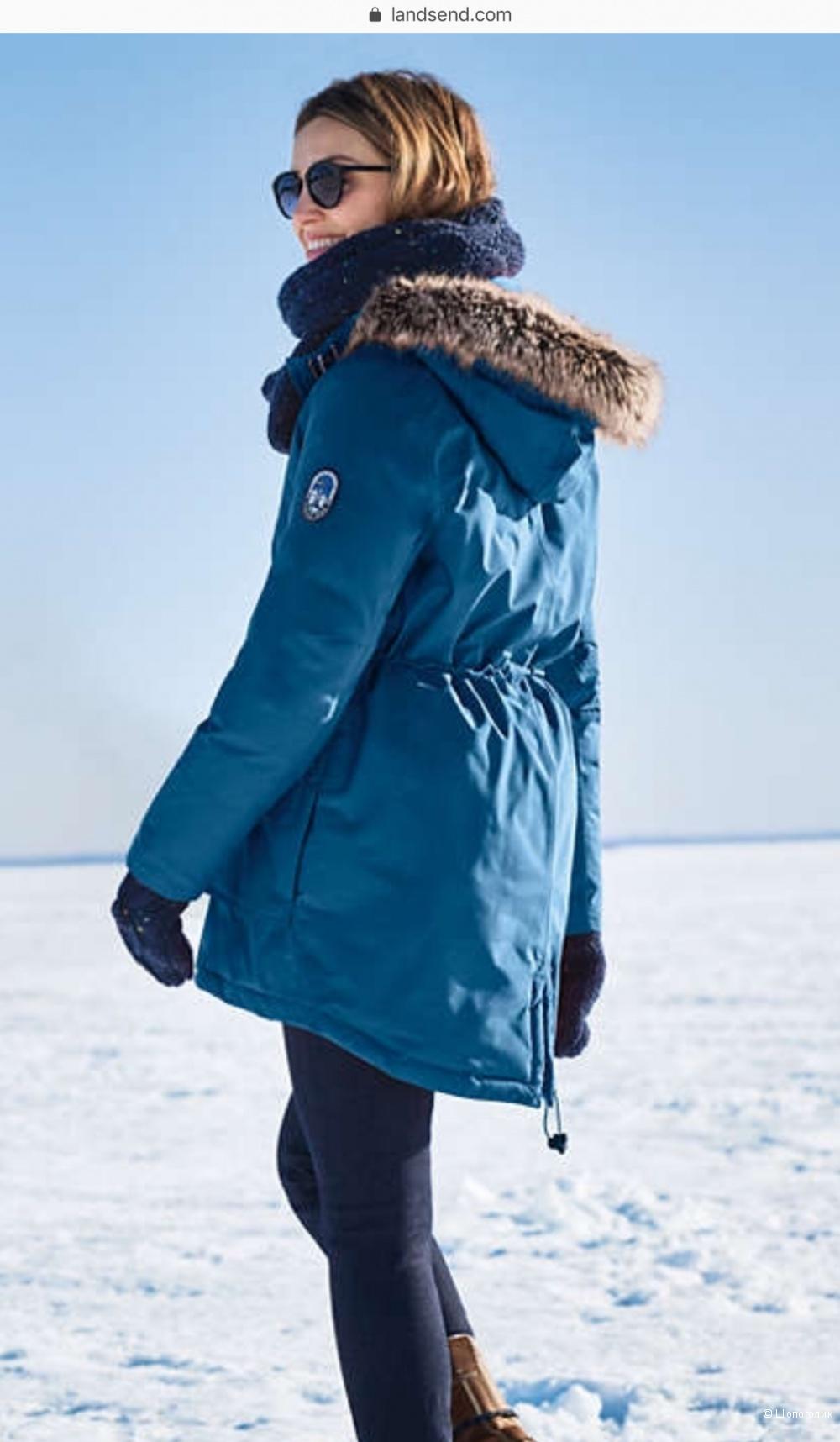 Пуховик  Женская экспедиция Down Parka,  р.S (6-8) диз  (46 RU полноценный )