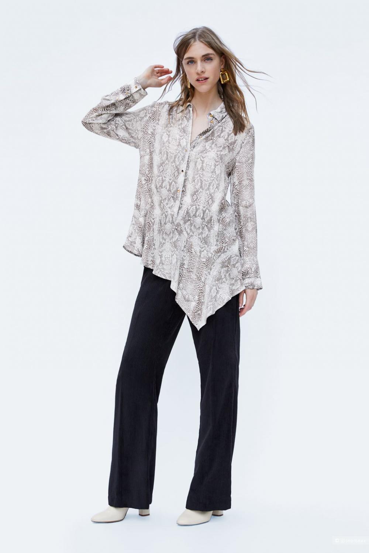 Рубашка со змеиным принтом ZARA, размер S(S+)
