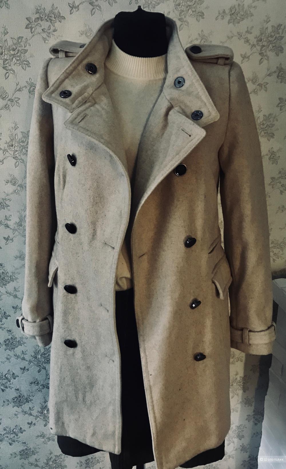Пальто шерстяное Mango, р. S