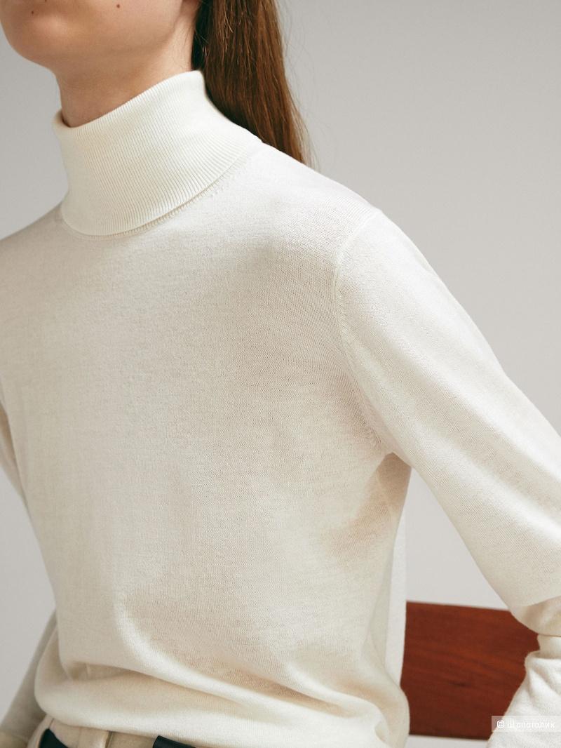 Свитер из шелка и шерсти Massimo Dutti L-XL
