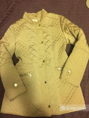 Пальто Zara 146-152 см (10-12 лет), цвет бежевый