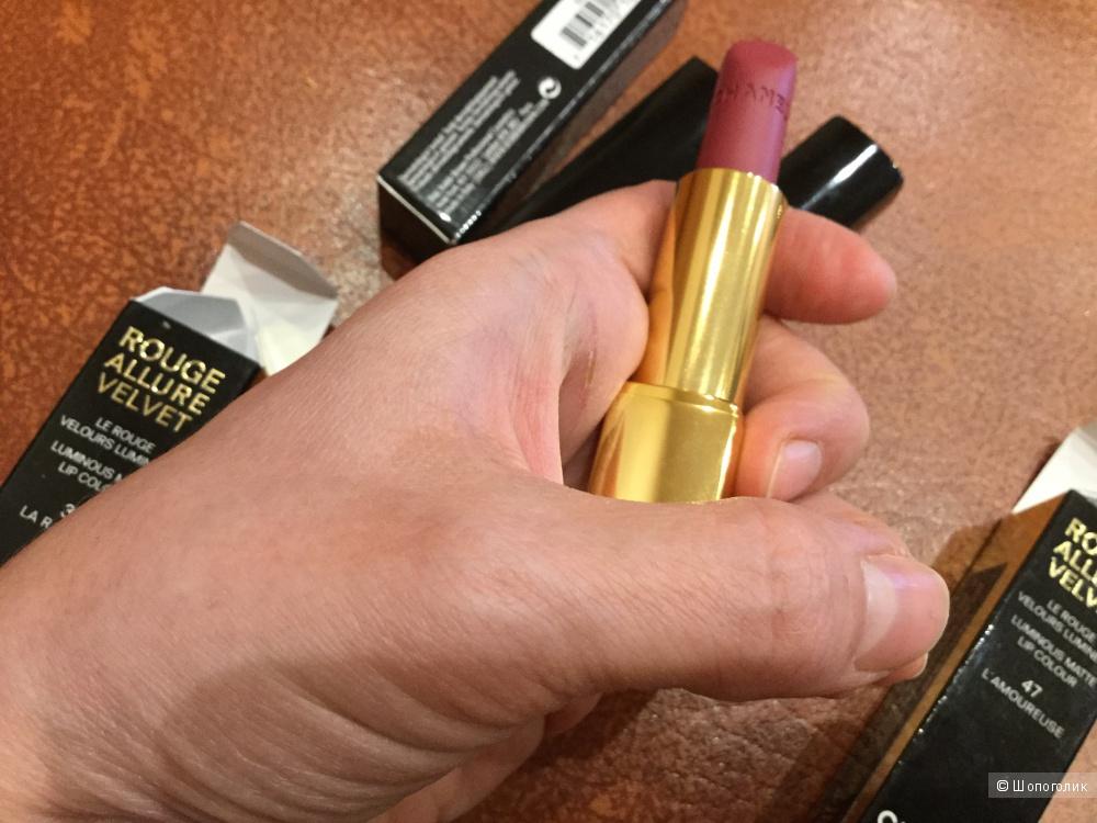 Помада Chanel Rouge Allure Velvet 47 L'Amoureus