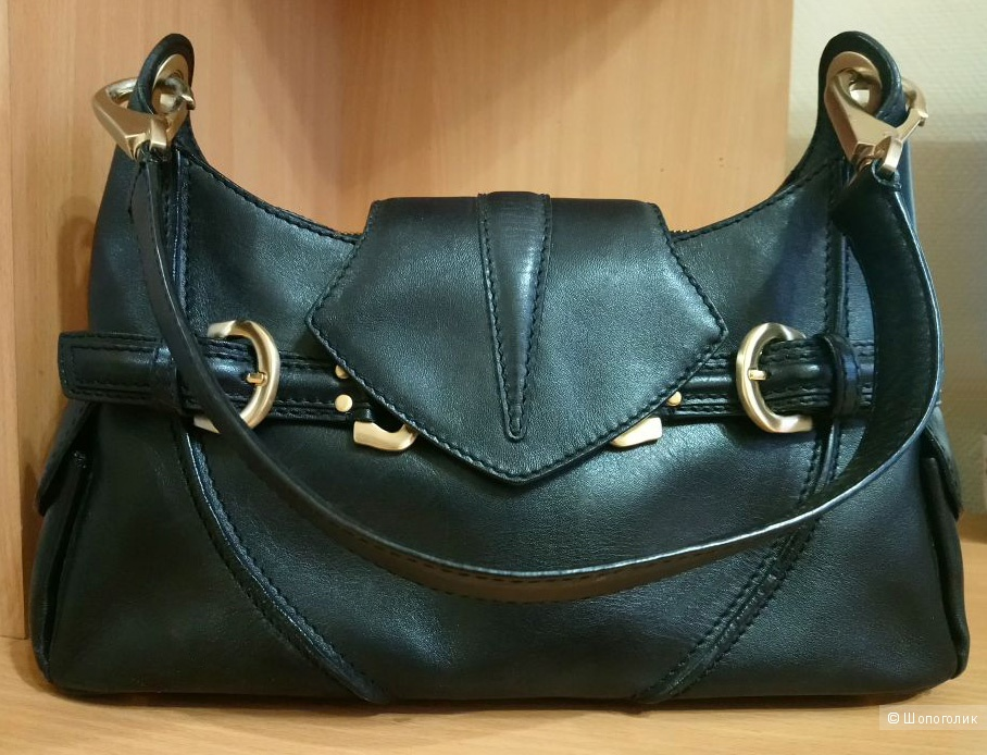 Кожаная сумка на плечо Via Spiga