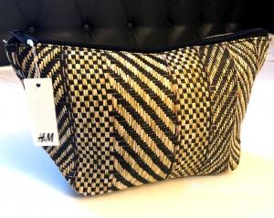 Косметичка -  клатч из соломы H&M  24 х 14 х 9 см