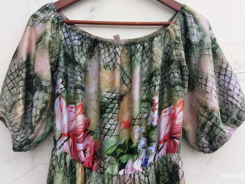 Шелковое платье Elza 46-48 размер