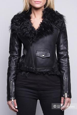 Кожаная куртка с мехом John&Yoko, 38 европ., 42-44 размер
