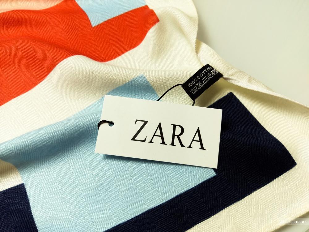 Платок Zara, ivory, 90*90 см.