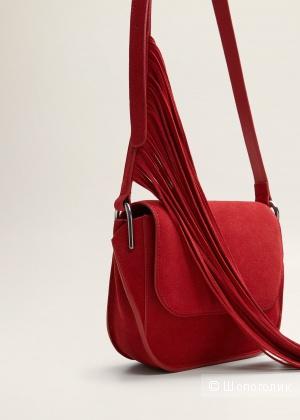 Замшевая сумка Mango 22  x 17  x 7 cм