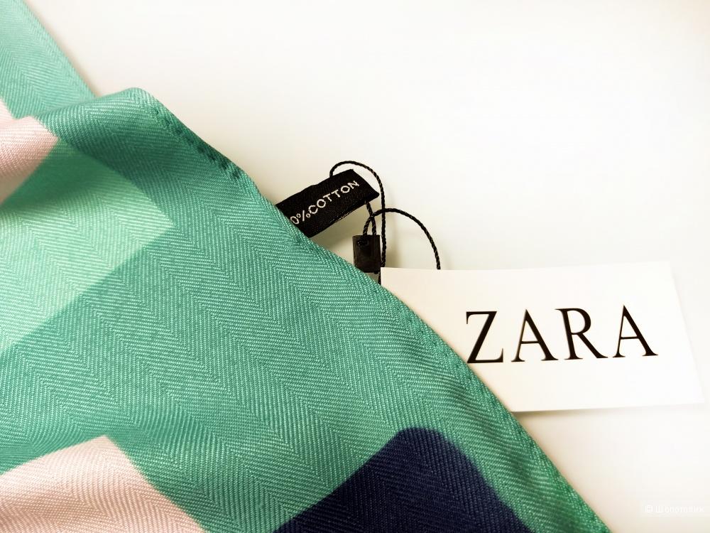 Платок Zara, green, 90*90 см.