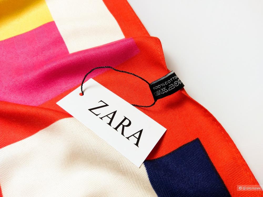 Платок Zara, red, 90*90 см.