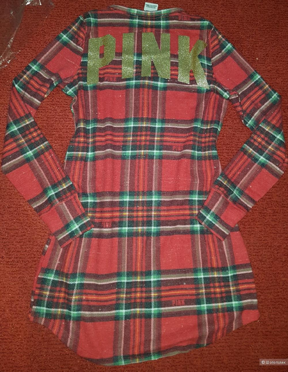 Платье Cozy Sleep Dress Victoria Secret PINK  XS