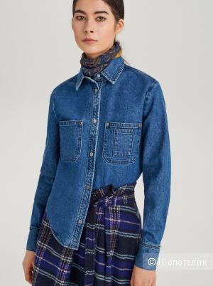 Джинсовая плотная рубашка Rezerved, 48 размер