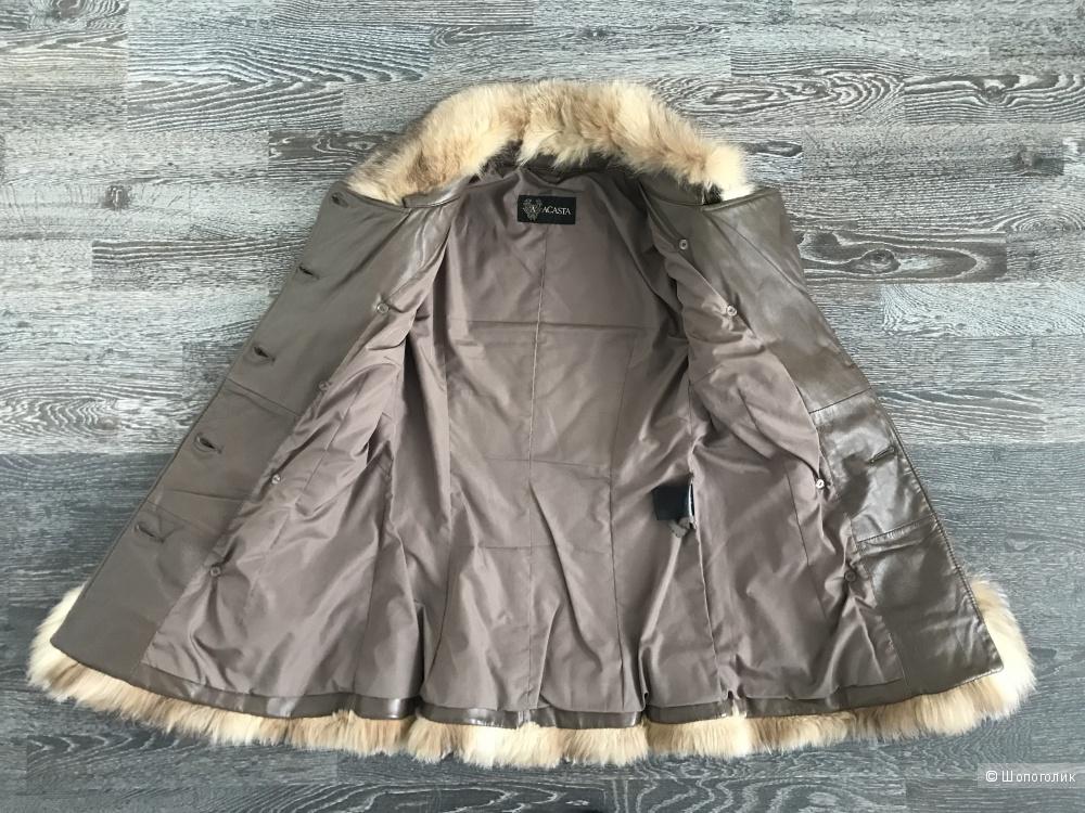 Утепленная кожаная куртка Acasta, размер S
