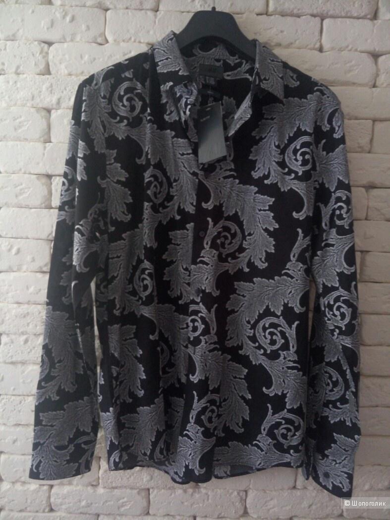 Рубашка H&M, размер L (41-42).