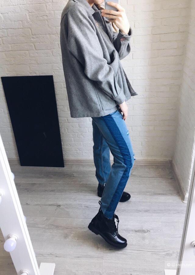 Пальто из натуральной шерсти, размер 42/44