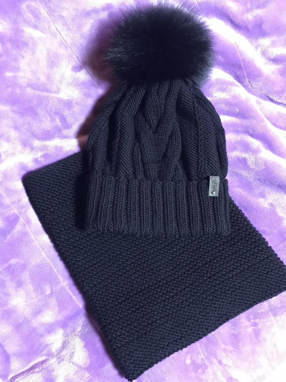 Комплект шапка и снуд GVV размер 56-58