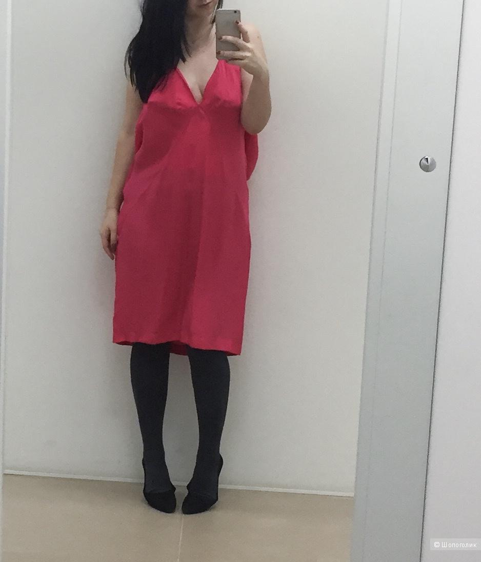 Шелковое платье Vera Moda размер 48