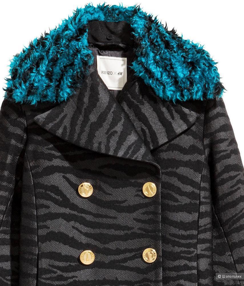 Пальто KENZO X H&M Mantel Wintermantel Coat EUR 40