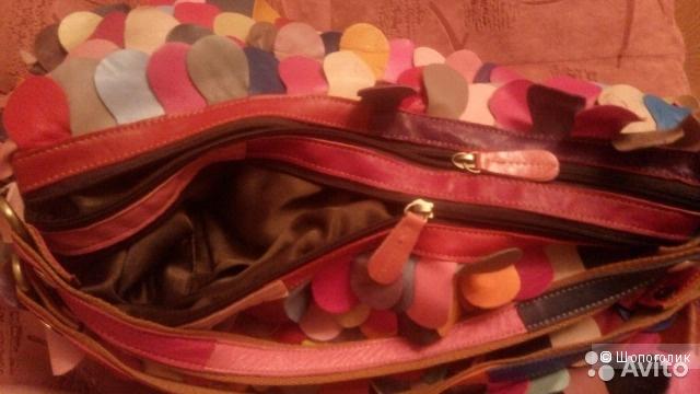 Лоскутная сумка (ноунейм, кожа)