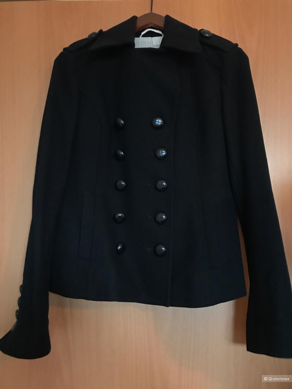 Пальто шерстяное двубортное Stefanel 44 IT  на наш 46