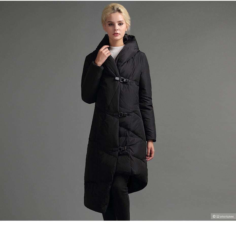 Пуховое пальто 44-46 размер No Name
