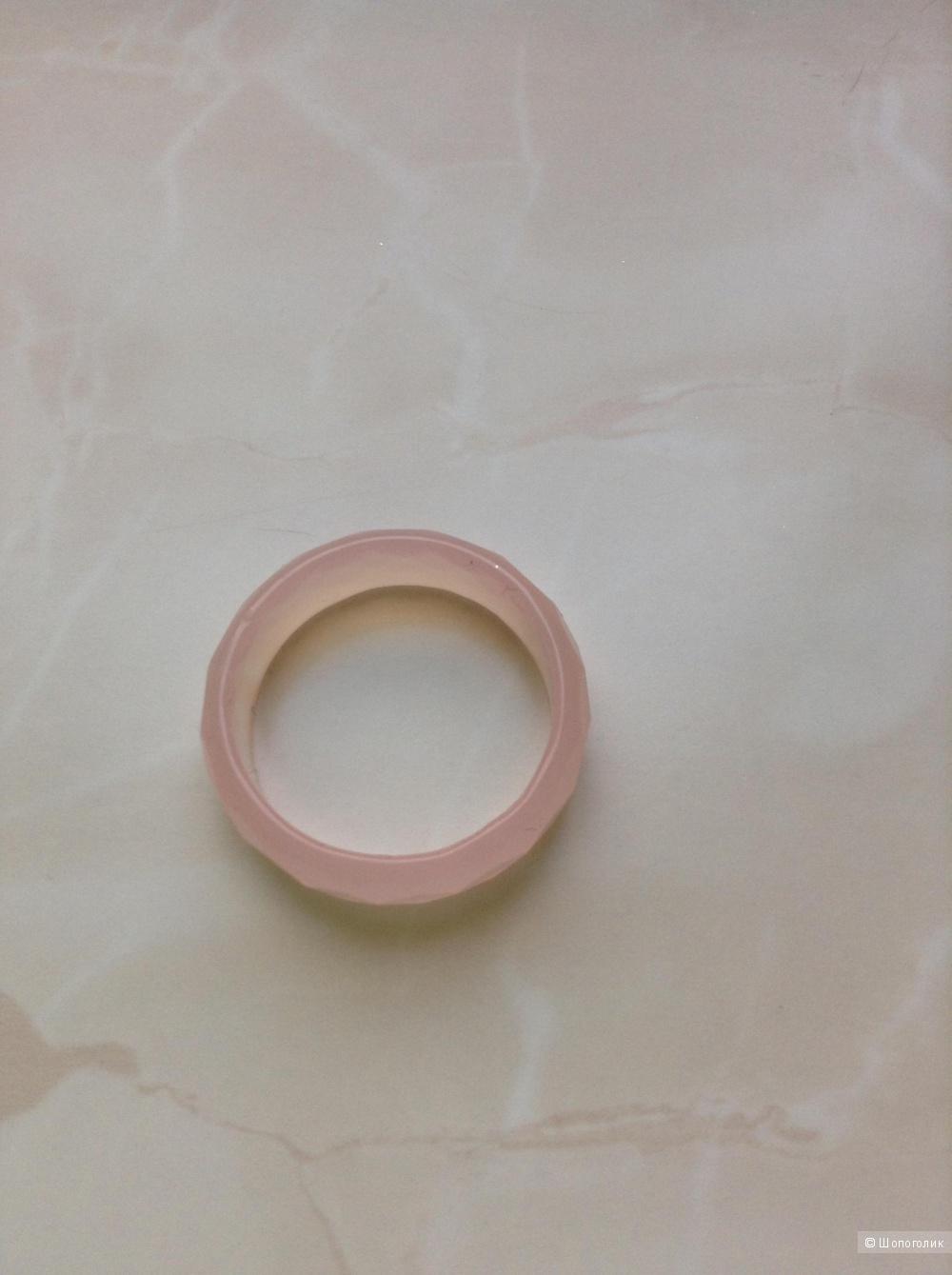 Кольцо из розового кварца, 17,5 размер