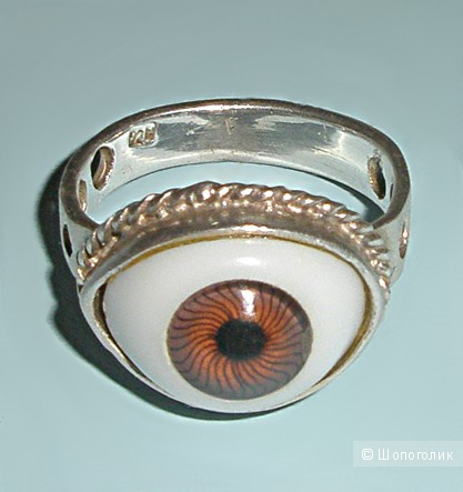Кольцо серебряное, размер 16-16,5