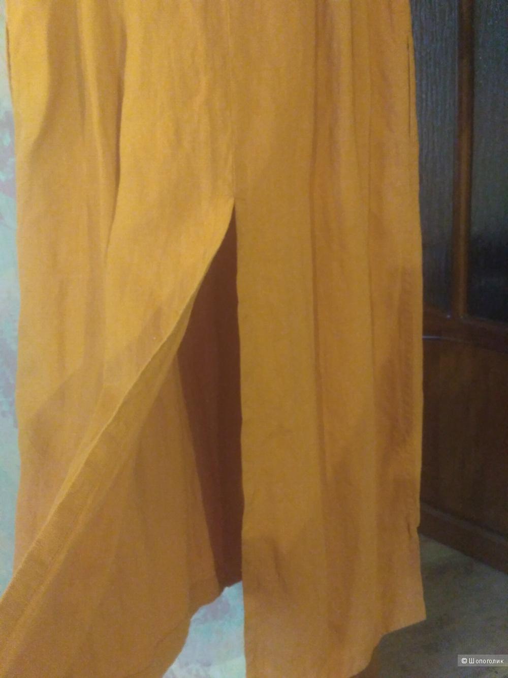 Платье-шазюбль Льняная лавка маркировка 50,маломерит
