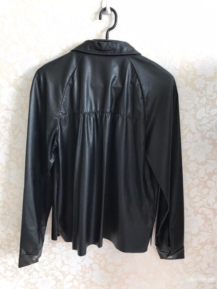 Рубашка из искусственной кожи ZARA размер S