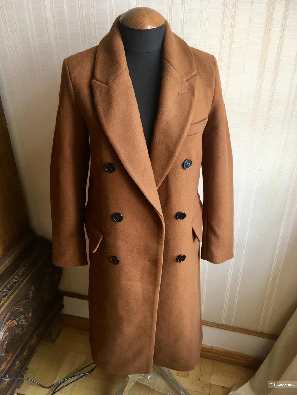 Полушерстяное пальто Mango, 42-44