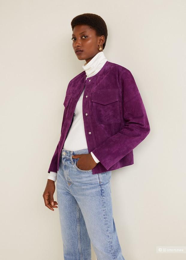 Замшевая куртка Mango размер 48 - 50