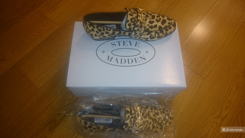 Леопардовые лоферы Steve Madden 37.5